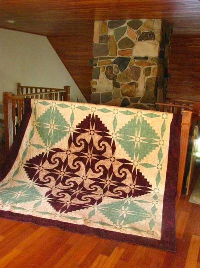 Snails Trail Quilt in Cabin Loft
