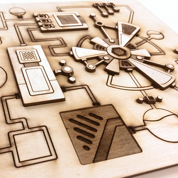 Laser Cut Machine artwork