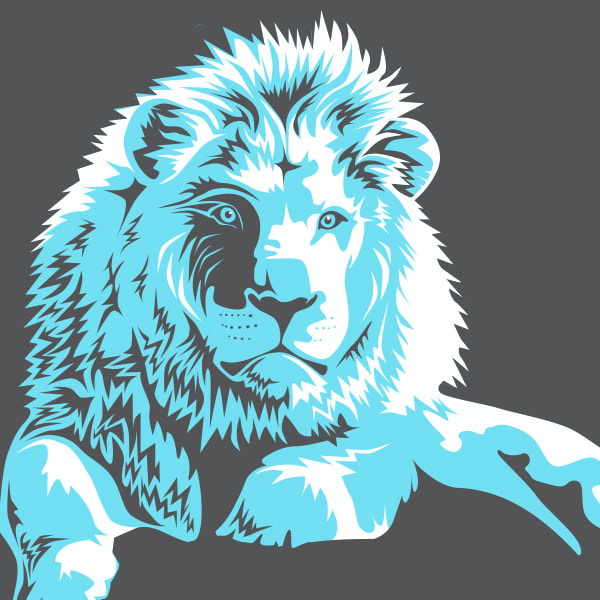 Lion in 3-colors