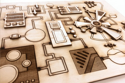 Laser Cut Machine Sketch in 3D